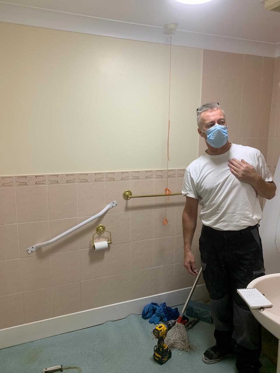 Bathroom Wet Room Fitting Southbourne Care Home Before