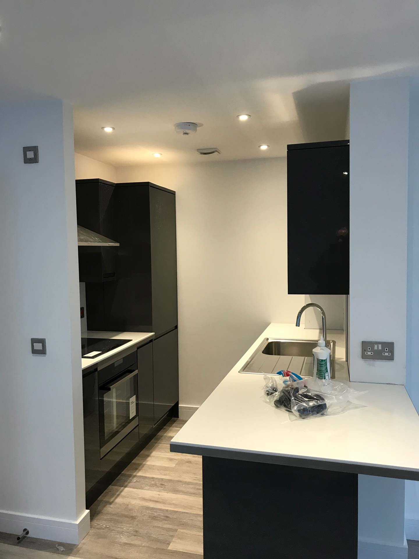 Kitchen Fit for a New Build in Hinton Road Bournemouth by Emerald Builders
