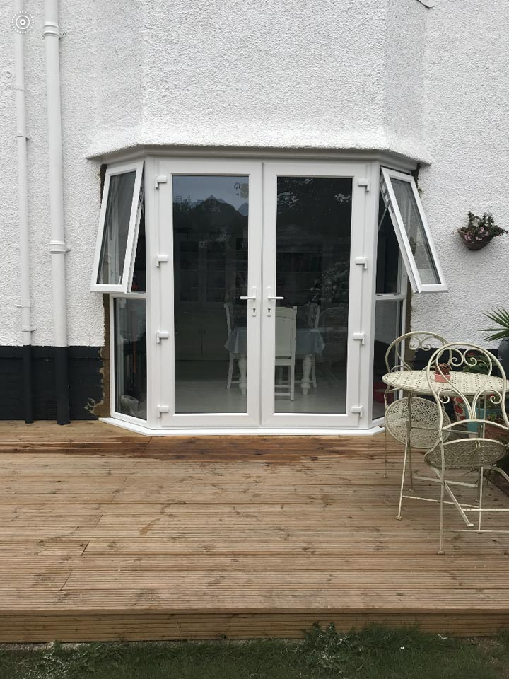 New Patio Doors fitted to House in Tuckton Bournemouth - Emerald Builders Ltd
